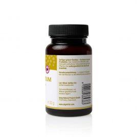 Algavital Bambus Silizium, 75 Kapseln à 433mg, dunkle Dose mit ockerfarbenen Aufdruck auf weißen Hintergrund